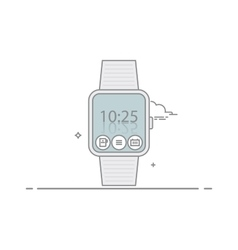 Smart watch The concept of mobile application vector image