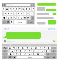 Sms chat interface elements sms messenger vector