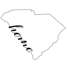 South carolina map outline with home vector