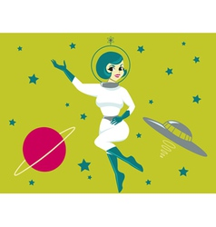 space girl vector image