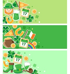 St Patricks Day green banners vector image