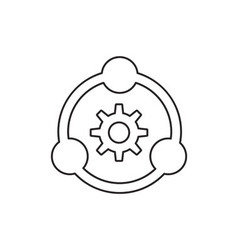 Teamwork icon outline vector