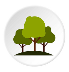 Tree group icon circle vector