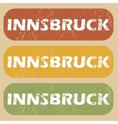 Vintage Innsbruck stamp set vector