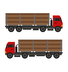 Wood truck icon in on white background vector