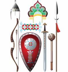 ancient russia set vector image
