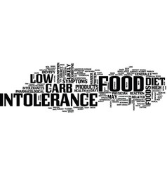 food intolerance and low carb diets text vector image vector image