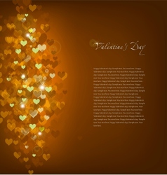 Gold Background Love vector image vector image