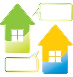 Message home vector image vector image