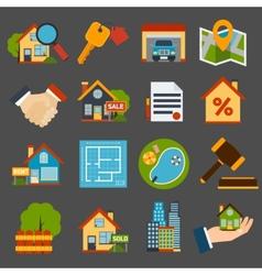 Real Estate Set vector image vector image
