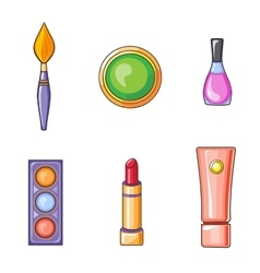 Set of Flat Beauty and Makeup Icons vector image