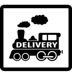train delivery icon vector image vector image