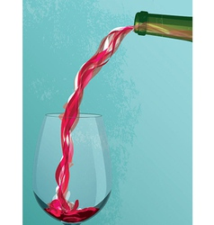 Wine Pouring vector image