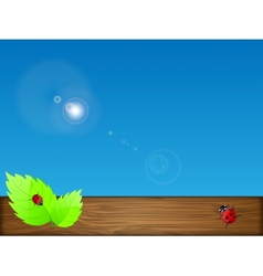 green leaves and sky vector image vector image