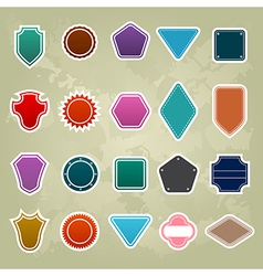 set of Colorful Promotional stickers vector image vector image
