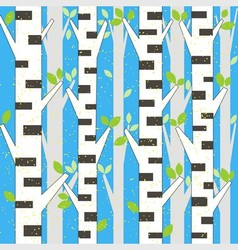background spring birch vector image