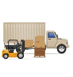 cargo truck concept 04 vector image vector image