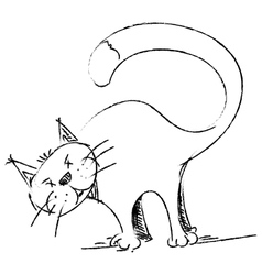 Cat sketch style drawing vector image vector image