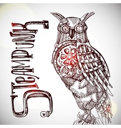 Steampunk style owl vector image