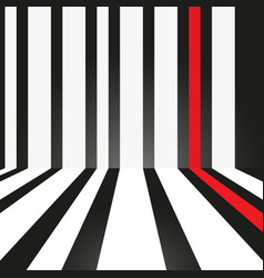 abstract strip white and red on black background vector image