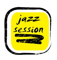 jazz session stamp vector image