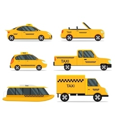 Taxi Service Car Set vector image vector image