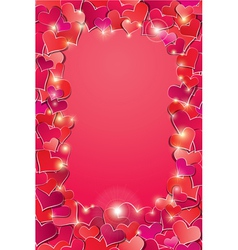 Valentines day or Wedding background with Red hear vector image vector image
