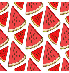 watermelon seamless pattern bright fabric texture vector image