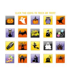 A happy halloween icon set vector