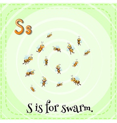 A letter s for swarm vector