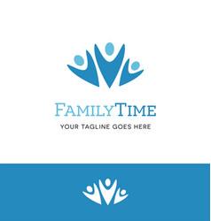 Abstract family logo design vector
