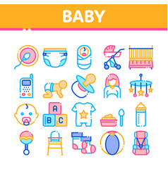 baclothes and tools collection icons set vector image