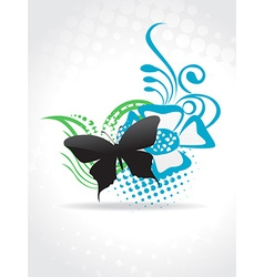 Beautiful butterfle art vector image