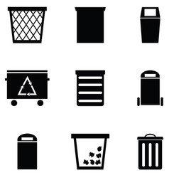 bin icon set vector image