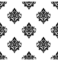 Black and white seamless arabesque pattern vector