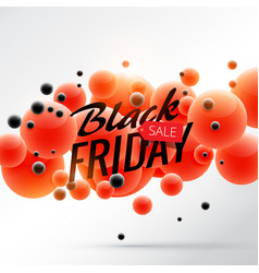 Black friday sale background poster with red and vector