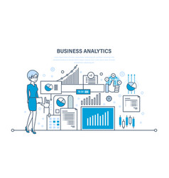 Business analytics data analysis statistic vector