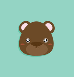 cartoon bear face vector image