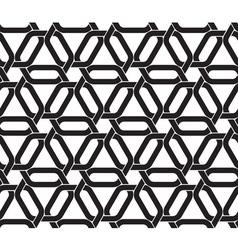 Celtic seamless pattern of hexagonal links of vector