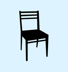 Chair isolated on ligth blue vector