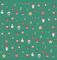 christmas and happy new year pattern winter vector image