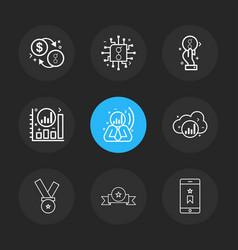 Coin golem dollar chip ic graph cloud smart vector