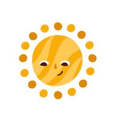 cute happy summer sun looking down vector image