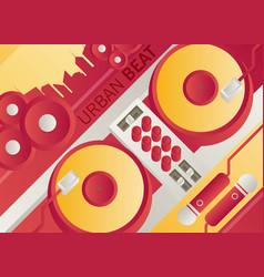 designed modern dj music banner vector image