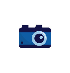 digital photo camera symbol or icon flat vector image