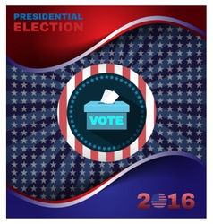 Digital usa election with presidential vector image