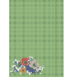 drawing of flowers on fabric vector image