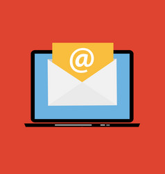 e-mail marketing concept flat background with vector image