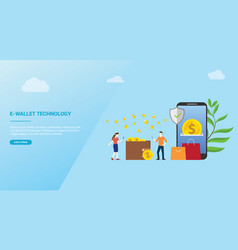 e-wallet technology payment concept for website vector image