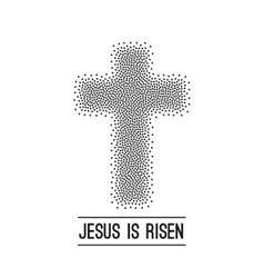 Easter background He is risen Halftone dots on vector image